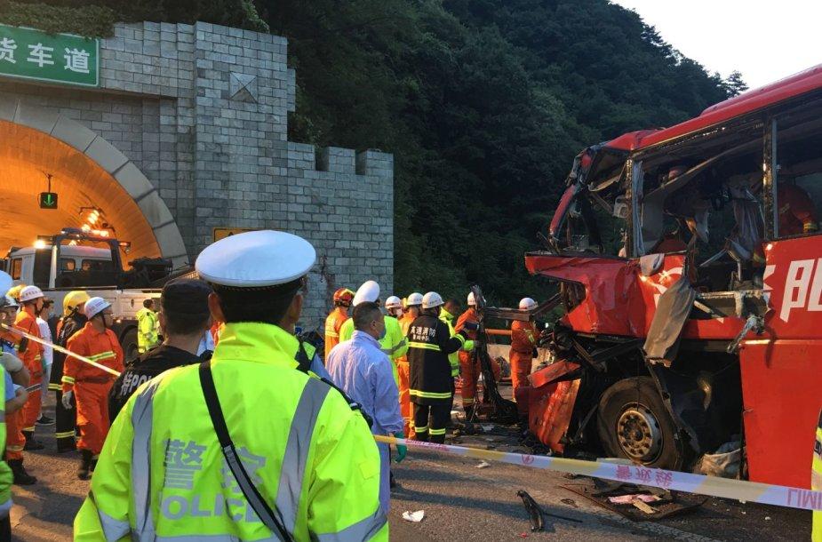 Autobuso avarija Kinijoje