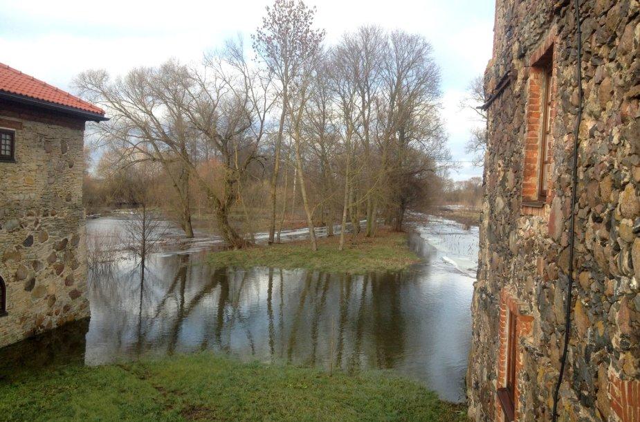 Potvynis Pakruojo dvare