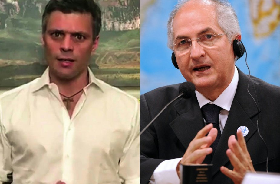 Leopoldo Lopezas ir Antonio Ledezma