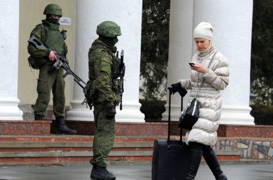 Karai prie Simferopolio oro uosto
