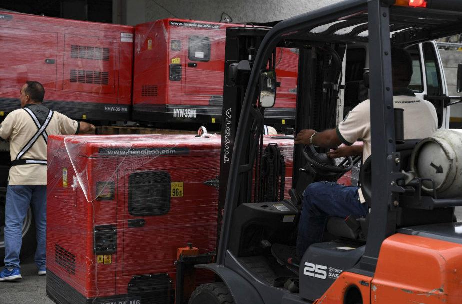 Venesuela sulaukė antros Raudonojo Kryžiaus pagalbos siuntos