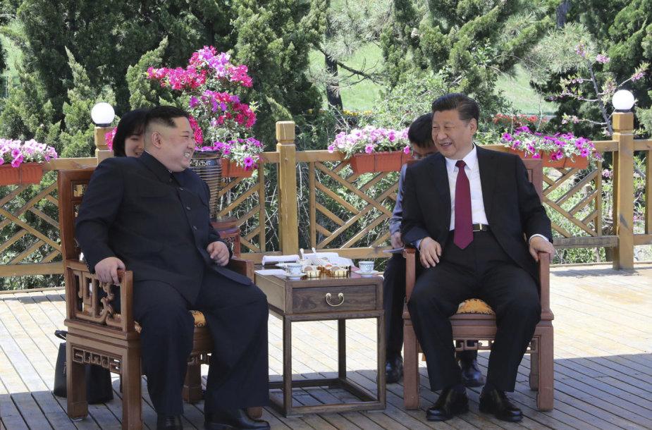 Kim Jong Unas ir Xi Jinpingas