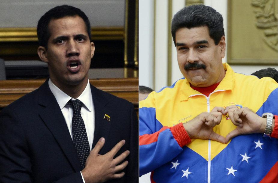 Juanas Guaido, Nicolas Maduro