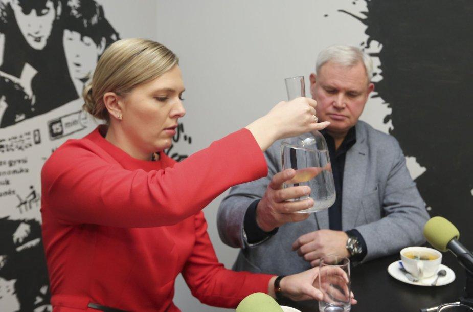 Kandidatai į Klaipėdos merus Vytautas Grubliauskas ir Agnė Bilotaitė