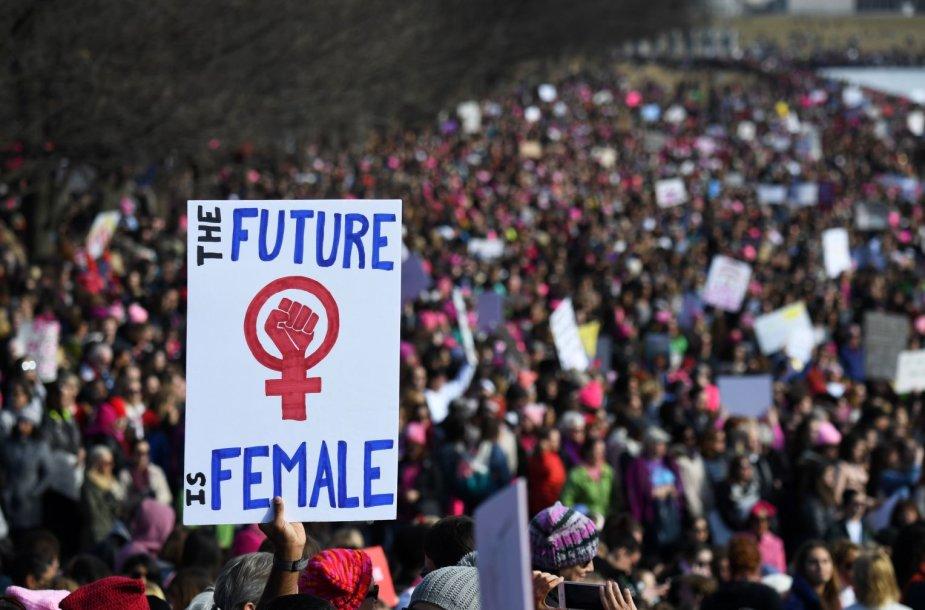 Demonstracija už moterų teises Vašingtone