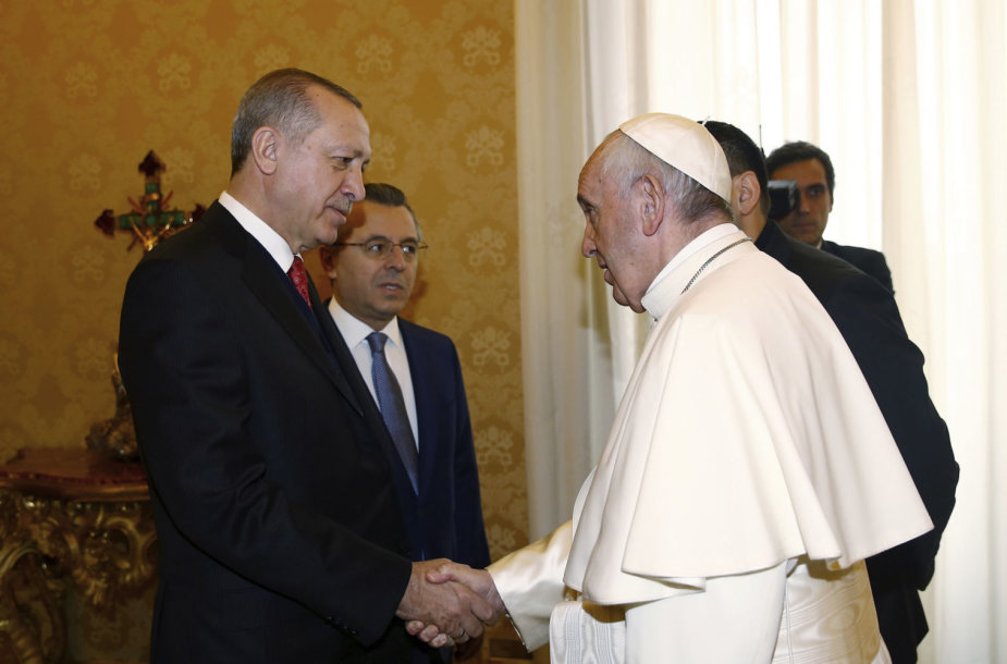 Recepas Tayyipas Erdoganas ir Popiežius Pranciškus