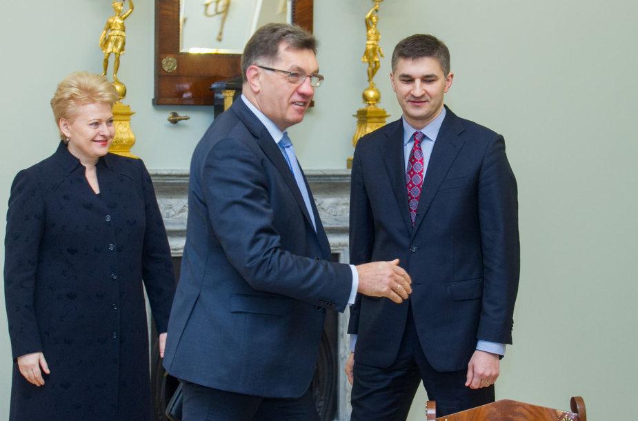 Dalia Grybauskaitė, Algirdas Butkevičius ir Jaroslavas Neverovičius