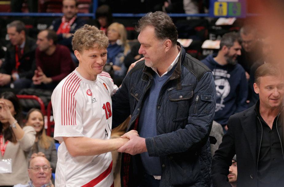 Mindaugas Kuzminskas ir Arvydas Sabonis