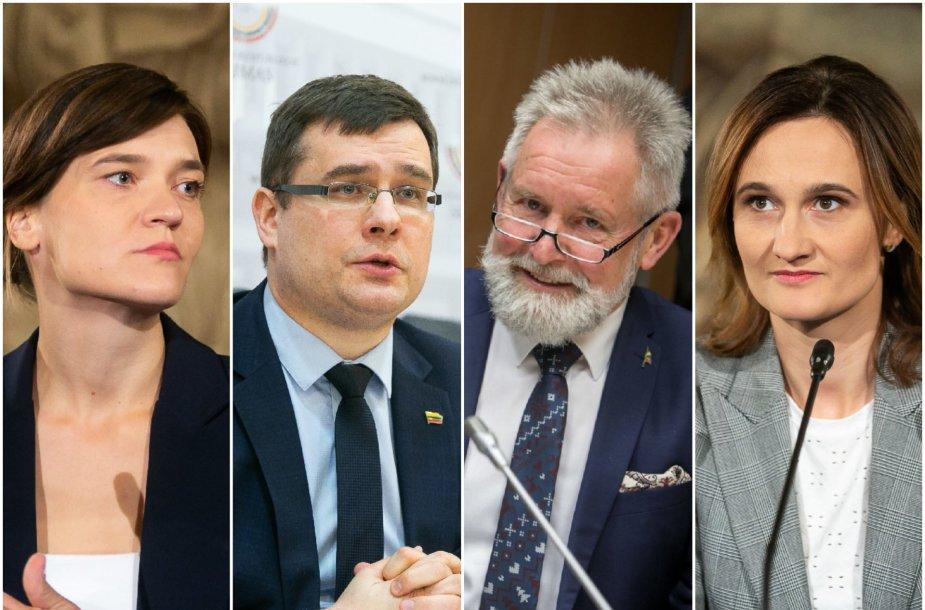 Radvilė Morkūnaitė-Mikulėnienė, Laurynas Kasčiūnas, Algirdas Sysas ir Viktorija Čmilytė-Nielsen