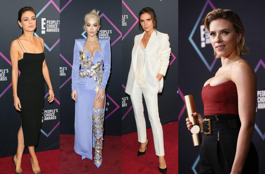 Mila Kunis, Rita Ora, Victoria Beckham ir Scarlett Johansson