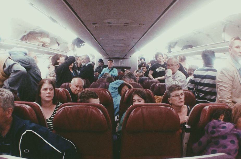 Keleiviai lėktuve