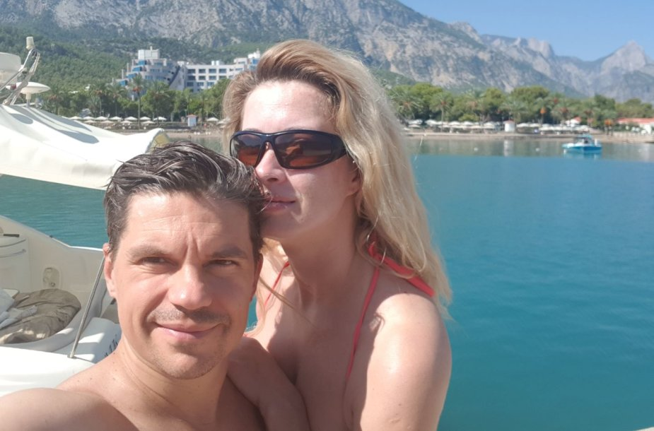 Deivis Norvilas su žmona Renata Norvile
