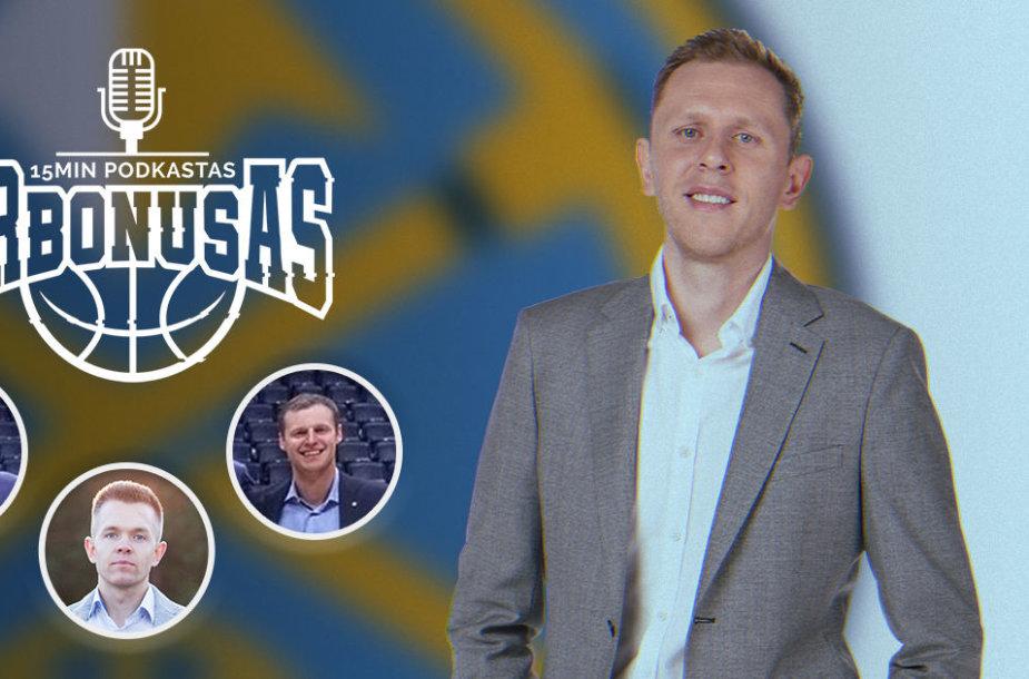 """Krepšinio podkaste – """"Nuggets"""" krepšinio strategijos ir analitikos direktorius T.Balčėtis"""