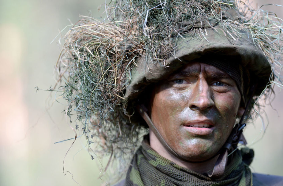 20-os bazinių karinių mokymų laidos karių baigiamosios vertinimo pratybos