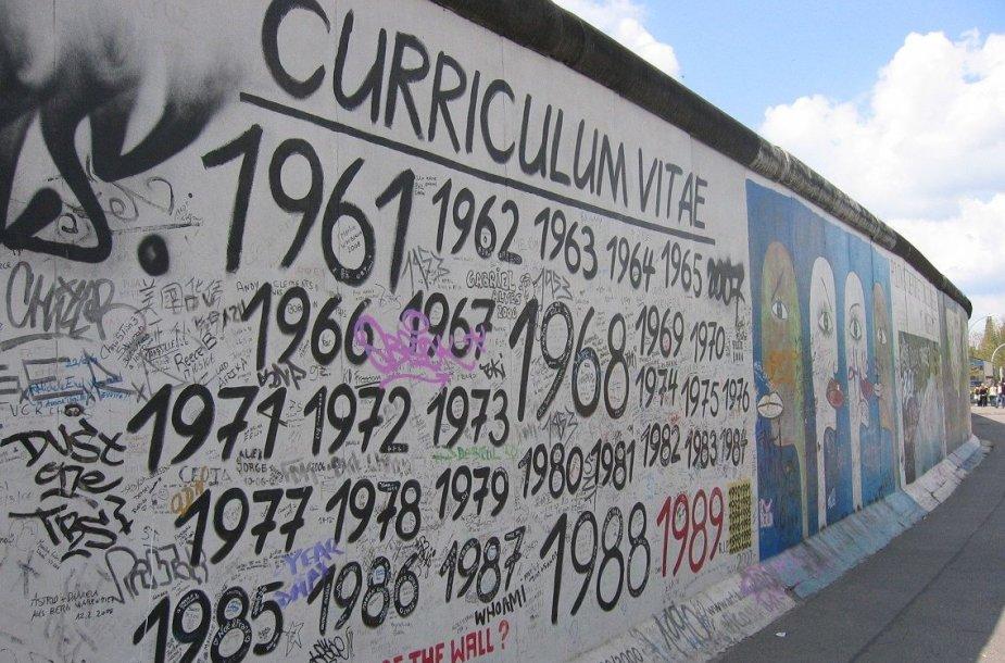 Vis dar stovinti Berlyno siena