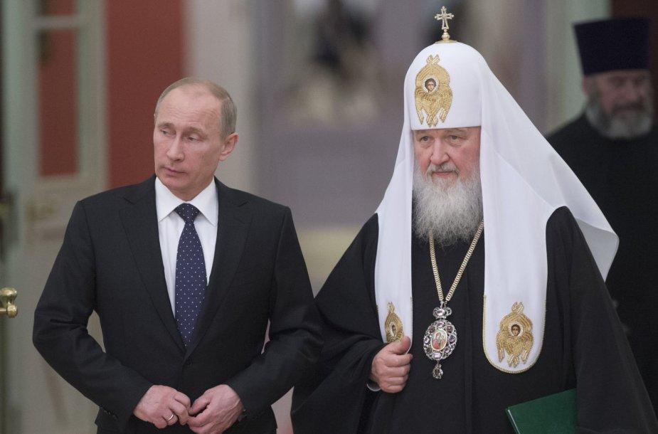 Vladimiras Putinas ir patriarchas Kirilas