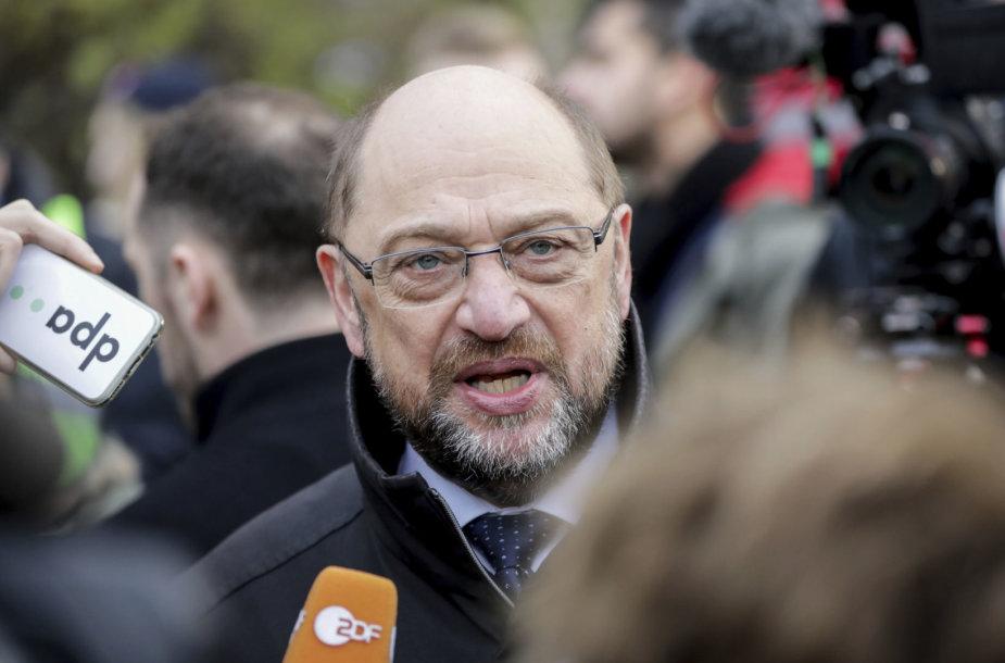 Vokietijos socialdemokratų lyderis Martinas Schulzas