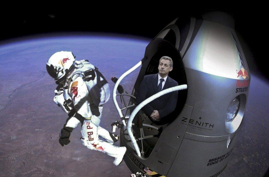 Į pirmąsias Paryžiaus eitynių gretas prasibrovęs Nicolas Sarkozy sulaukė internautų pajuokos