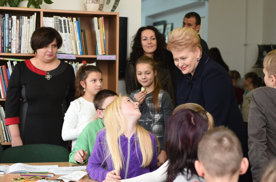 Dalia Grybauskaitė bibliotekoje Naujojoje Vilnioje