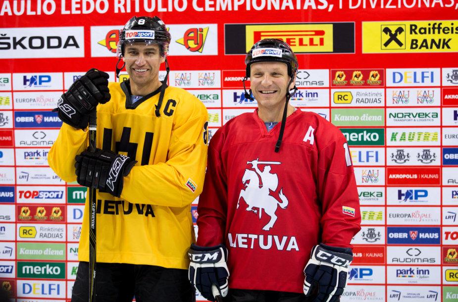 Dainius Zubra ir Darius Kasparaitis