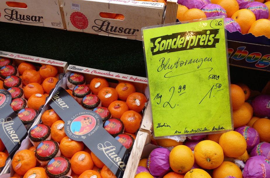 Maisto produktų kainos Vokietijoje
