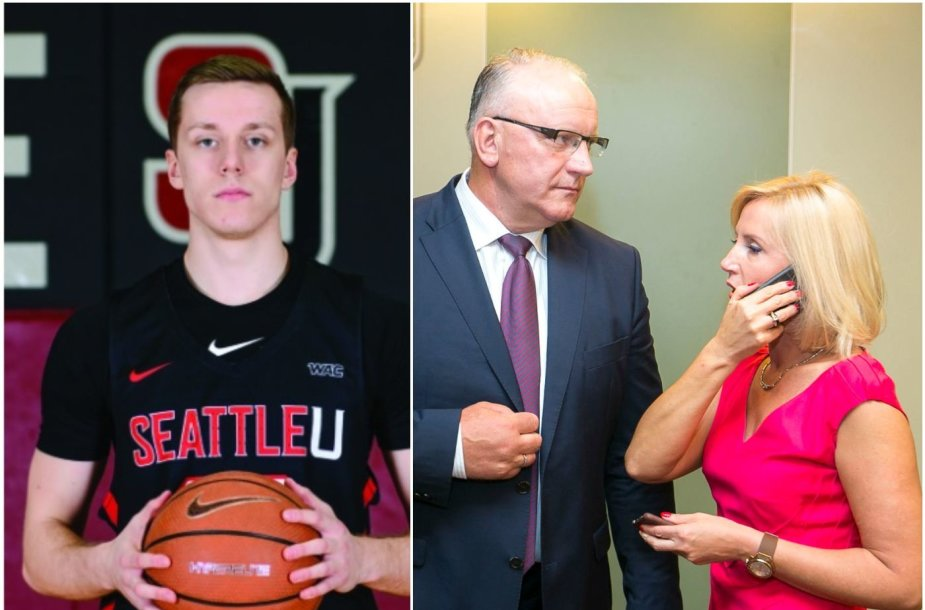 Žinomų politikų Živilės Pinskuvienės ir Jono Pinskaus sūnus Dovydas žaidžia krepšinį.