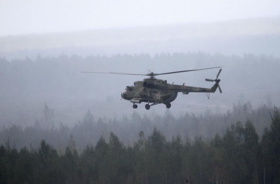 Rusijos armijos sraigtasparnis Mi-8