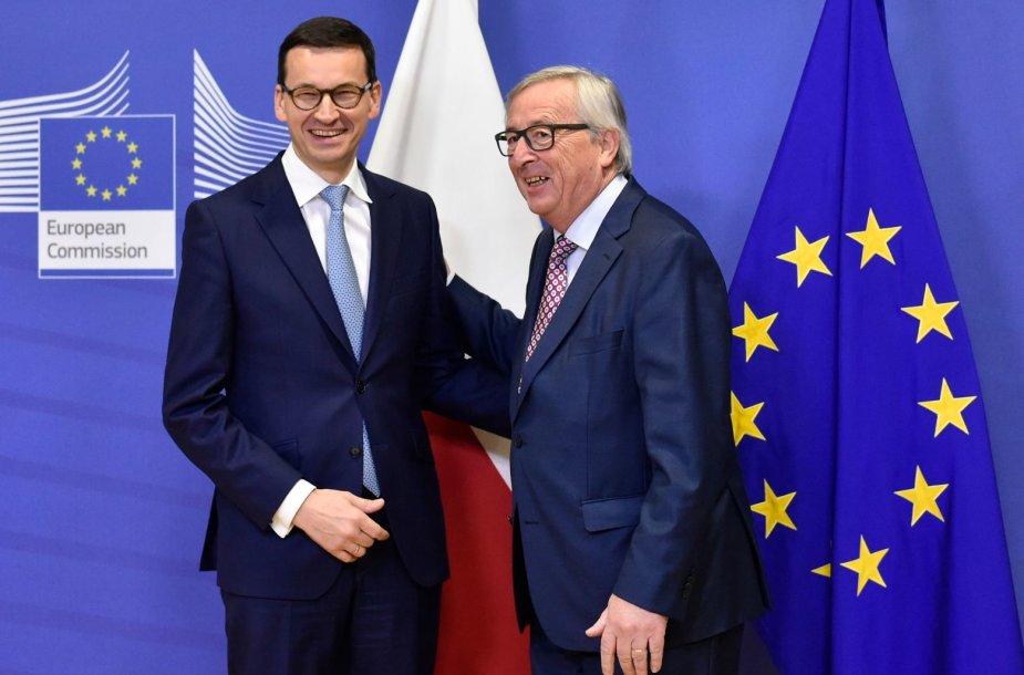 Mateuszas Morawieckis ir Jeanas-Claude`as Junckeris