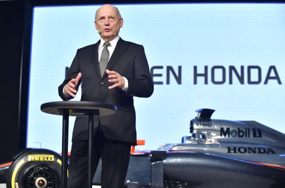 """McLaren"" vadovas Ronas Dennisas"