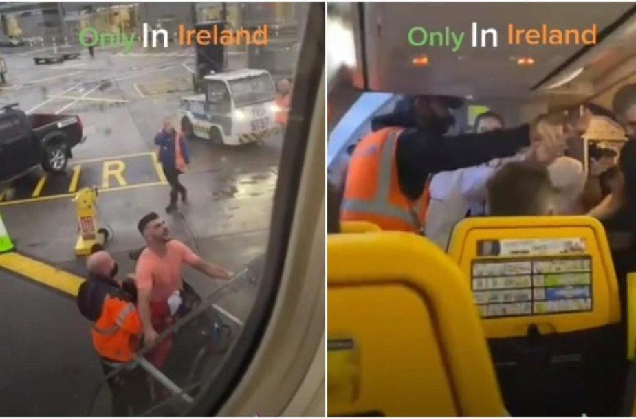 """Iš """"Ryanair"""" lėktuvo išlaipintas įsisiautėjęs keleivis"""