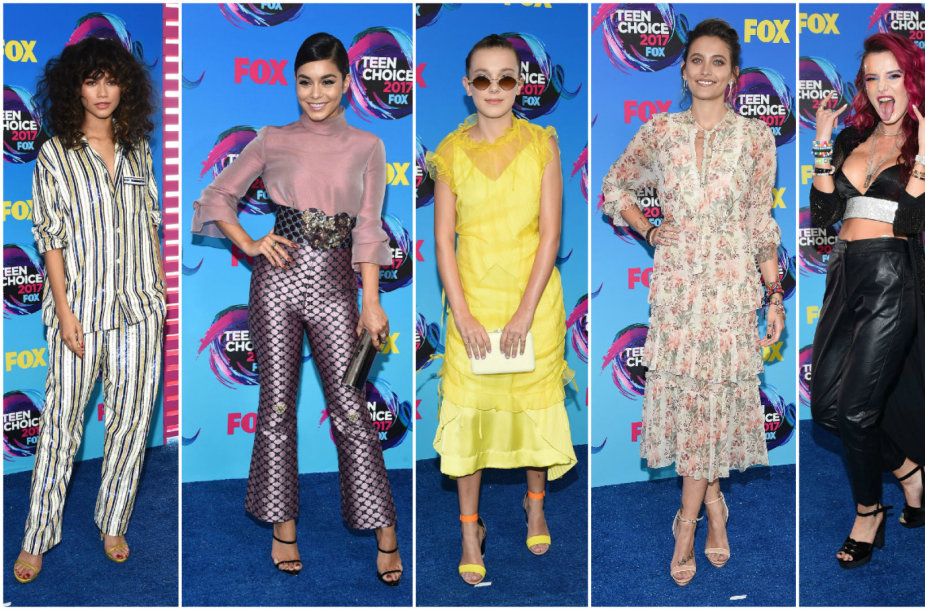 Zendaya, Vanessa Hudgens, Millie Bobby Brown, Paris Jackson ir Bella Thorne
