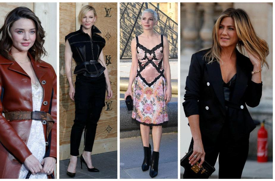 Miranda Kerr, Cate Blanchett, Michelle Williams ir Jennifer Aniston