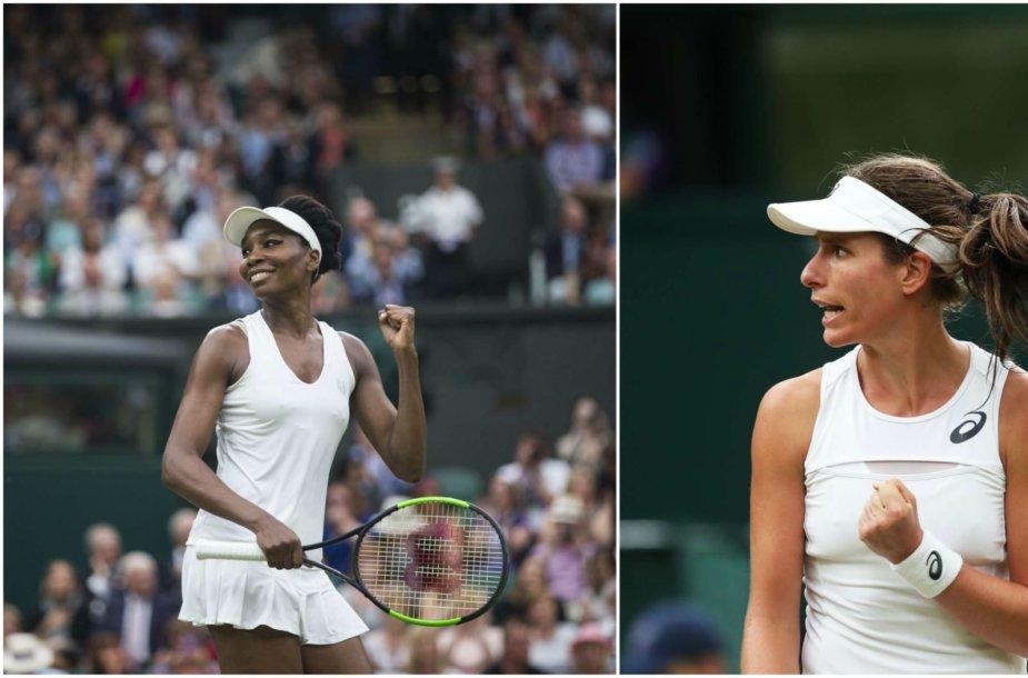 Venus Williams ir Johanna Konta