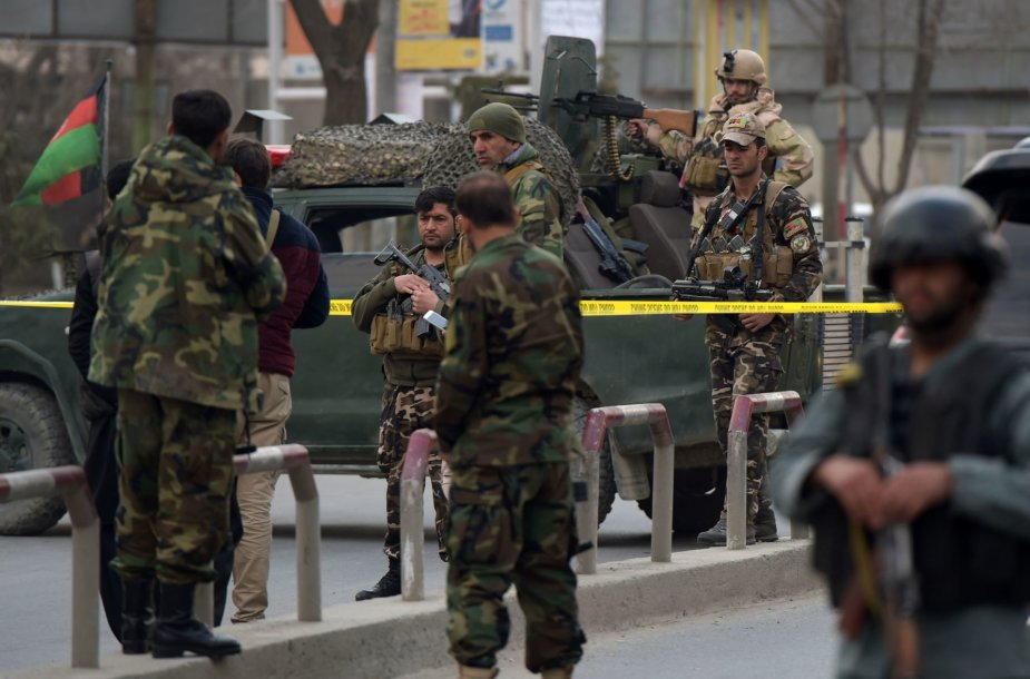 Afganistano saugumo pajėgos Kabule