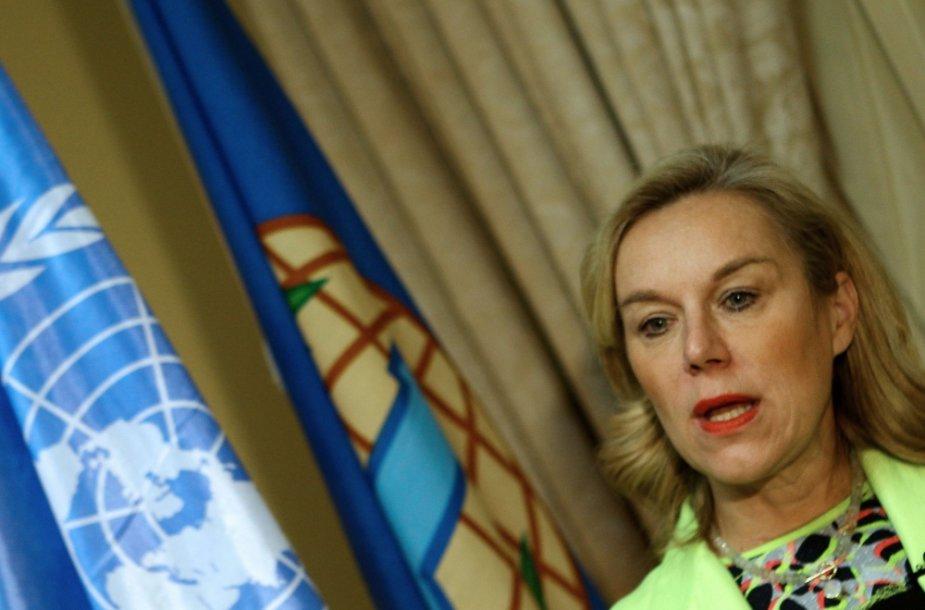 JT misijos sunaikinti Sirijos cheminius ginklus vadovė Sigrid Kaag