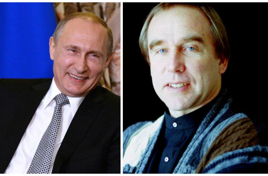 Vienas artimiausių Vladimiro Putino draugų Sergejus Rolduginas (dešinėje) valdė šešėlinę verslo imperiją, turtus susikrovusią galimai nevengiant neteisėtų operacijų