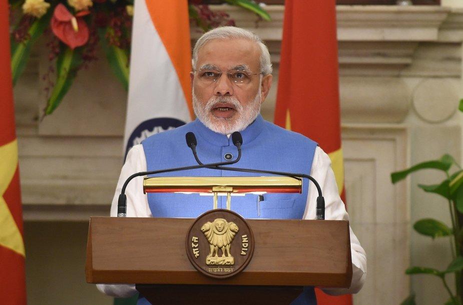 Indijos premjeras Narendra Modi