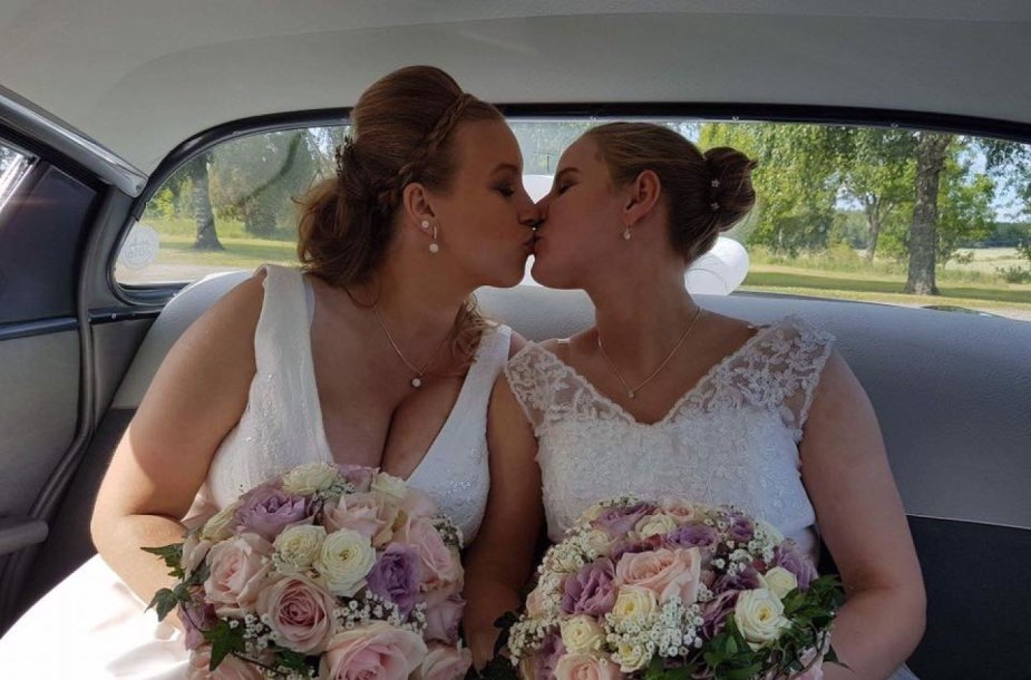 Viktorija Budrytė Švedijoje susituokė su savo širdies drauge švede Marina Melody Winnersjo.