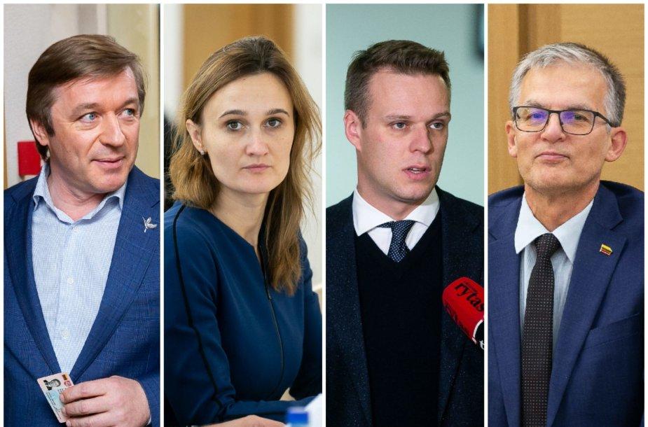 Ramūnas Karbauskis, Viktorija Čmilytė-Nielsen, Gabrielius Landsbergis ir Julius Sabatauskas