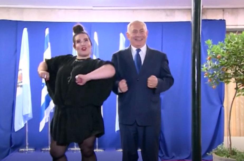 Netta Barzilai ir Benjaminas Netanyahu