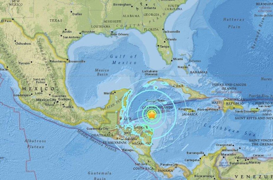 Žemės drebėjimas prie Hondūro krantų