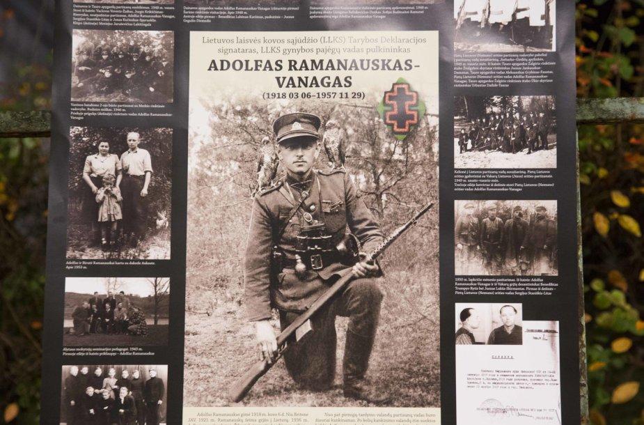 Vilniuje – pilietinė akcija partizanui A.Ramanauskui–Vanagui palaikyti