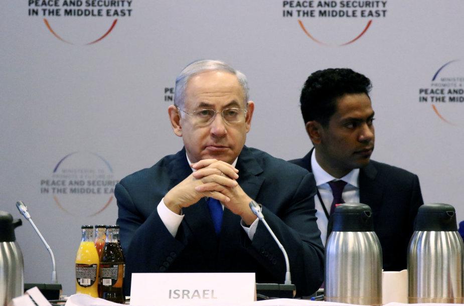 Benjaminas Netanyahu Varšuvoje