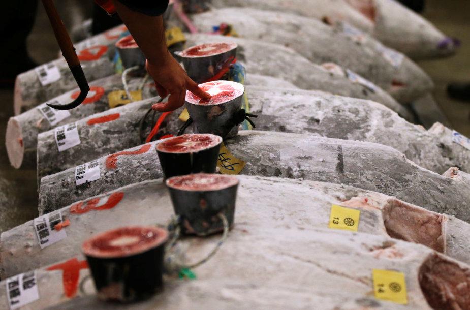 Cukidžio turgaus Naujųjų metų tuno aukcionas