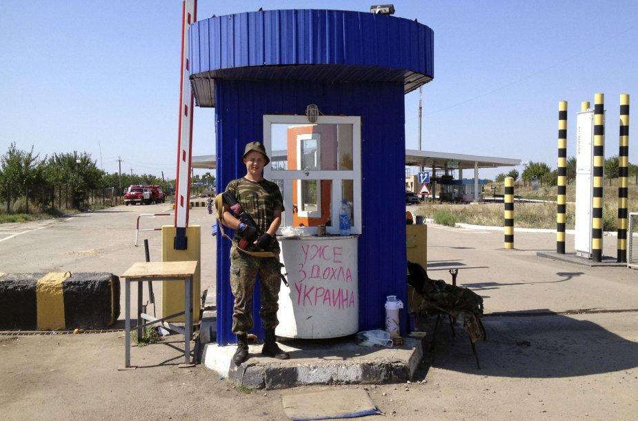 Prorusiškas separatistas saugo sieną su Rusija
