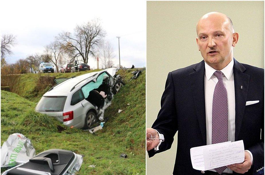 R.Bakutis teisiamas dėl avarijos Lenkijoje.