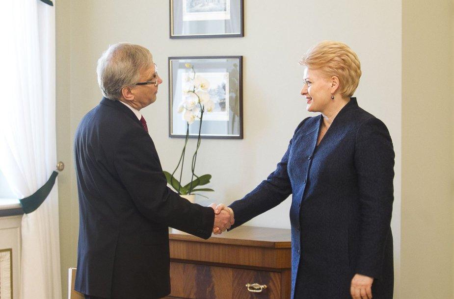 Dalia Grybauskaitė ir Rimantas Šadžis