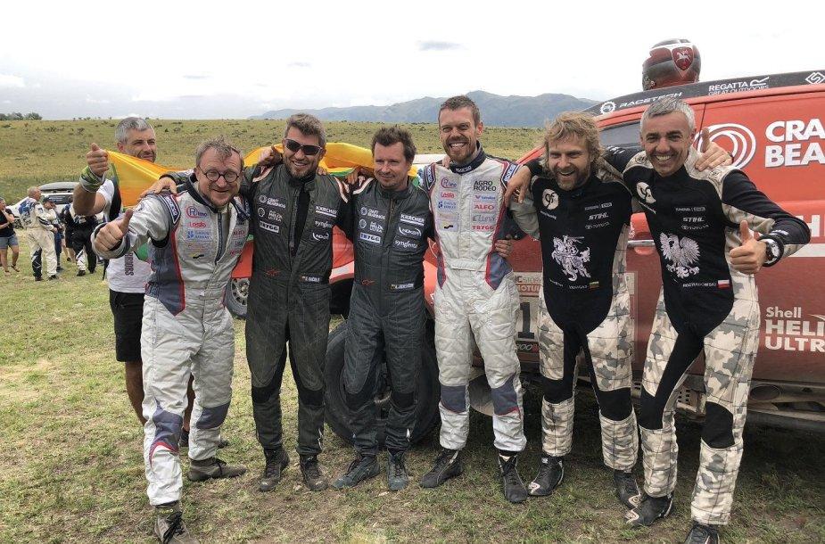 Lietuviai Dakaro ralio finiše neslėpė džiaugsmo