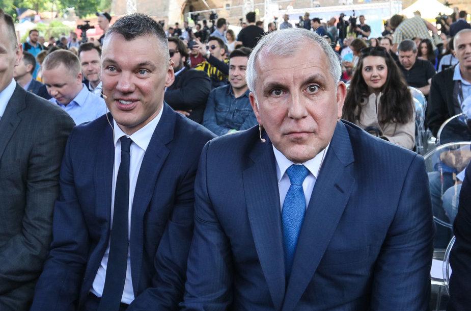 Šarūnas Jasikevičius ir Željko Obradovičius