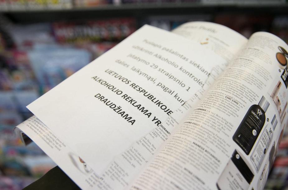 Iš užsienietiškų leidinių iškirpta alkoholio reklama